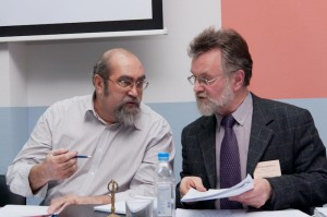 К.Морозов и П.Кудюкин на учр. конференции профсоюза