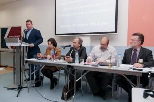 Президиум и приветствие Б.Кравченко